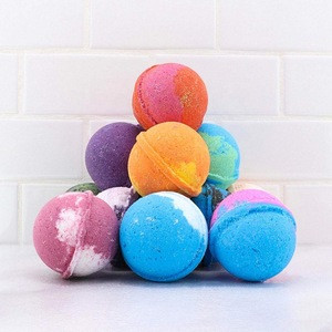 OEM Natural Organic Kids Bubble Fizzies Bath Bombs with Surprise Toys Inside For Kids Gift