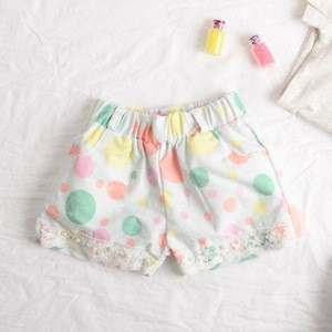 Trendy Girl Lace Trim Shorts, Young Girls In Childrens Printed Shorts