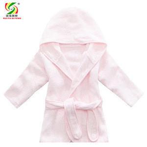 Wholesale luxury terry bamboo baby hooded bathrobe