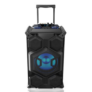 WLS audio Private Portable Multifunctional Trolley Speaker 60w Karaoke Tower Speaker With light Pa Speaker System