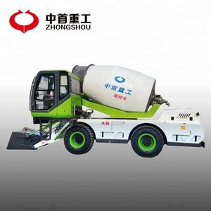 ZSZG 4 cubic automatic feeding concrete mixer truck