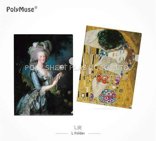 [PolyMuse] Fine art L folder-PP glossy or matt-Museum quality-0.18~0.45mm thickness-Ultra sonic 2 strong welding lines--L shape 1 pocket-Made In Taiwan
