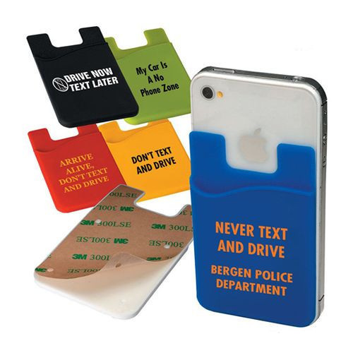 Custom cheap promotional silicone card sleeve, credit card holder phone wallet,cell phone credit card holder