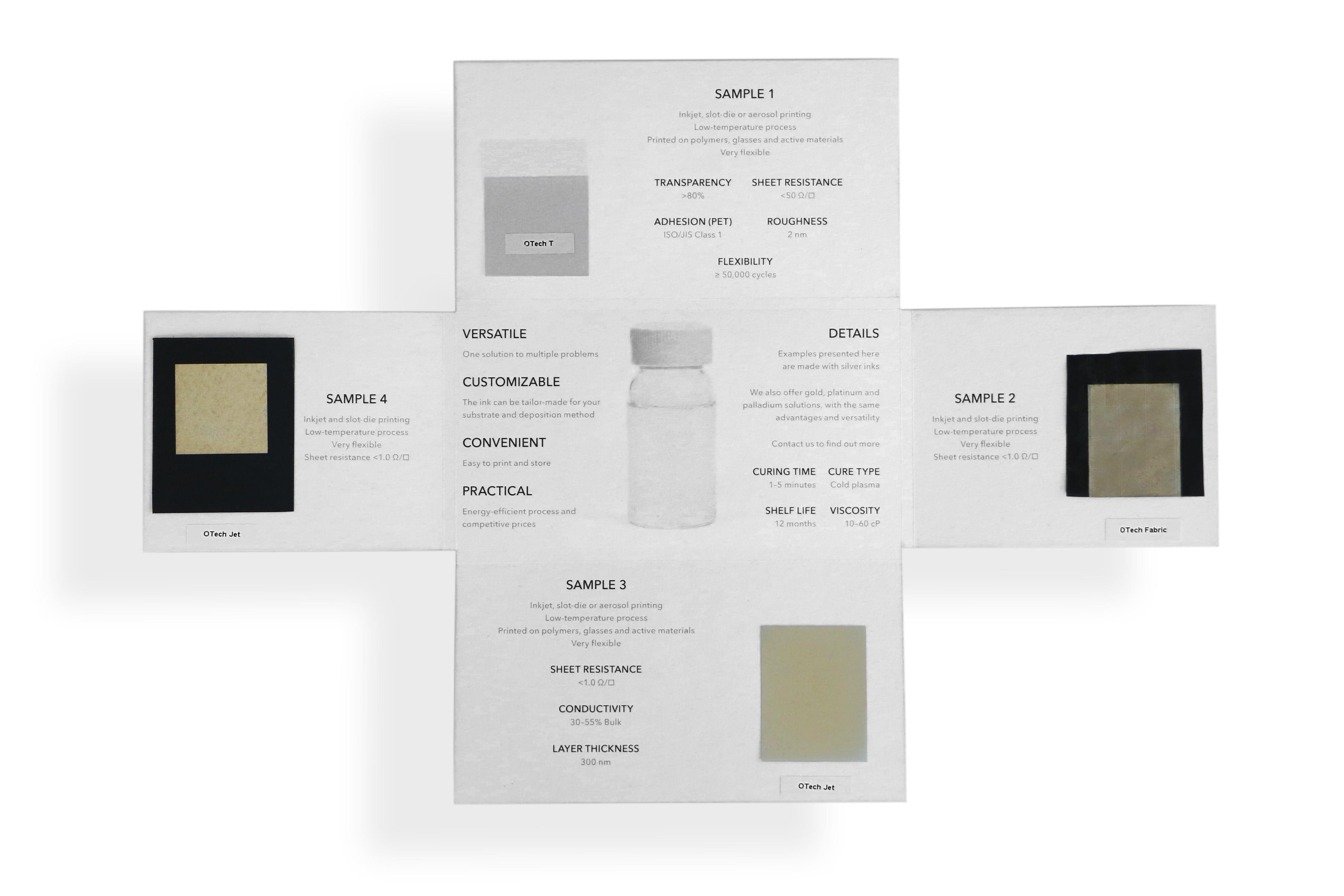 Sample kit: OTech metallization inks
