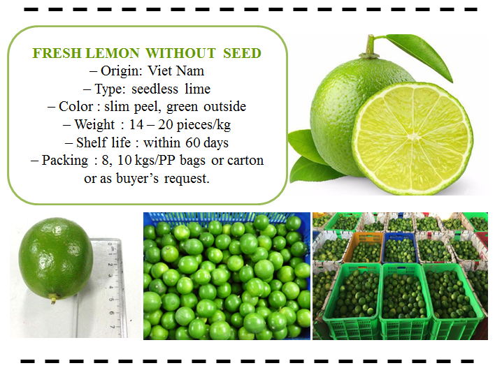 Fresh Seedless Lemon - Lime
