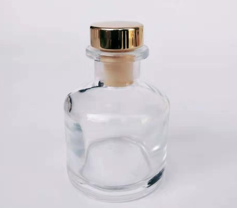 Flint glass reed diffuser bottles with cork