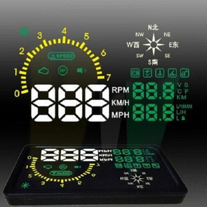 6 Inch Screen Auto Car HUD Head Up Display With Compass Display KM/h Car PC Driving Data On Car Front Window