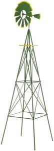 8' feet Outdoor Windmill garden Decoration Weather Resistant WindMill Backyard, Green
