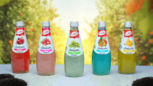 Basil Seed drink with Fruit Flavors