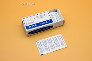 Boxed medical disposable blood collection needle