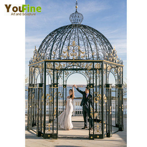 Cheap Iron Gazebo Metal Flower Arch for Wedding