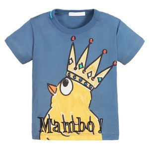China factory wholesale boy t shirt 100% cotton for kids