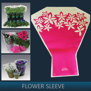 Custom Printed single rose flower sleeve Flower Sleeve