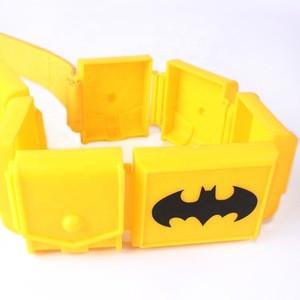Factory direct Superhero fashion width bat  custom PU leather plastic waistband belt