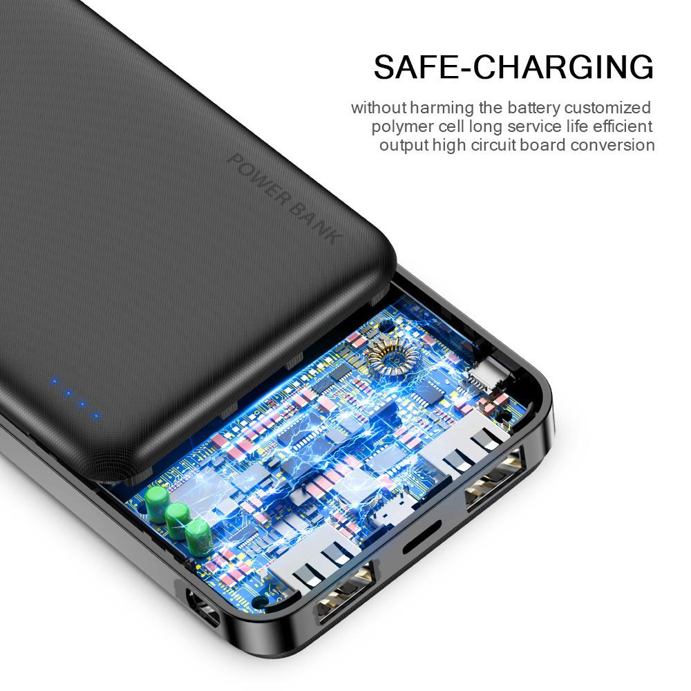 Free Shipping Portable Smart Phone Fast Charging 20000 Mah Power Bank Mobile Phone Charger Powerbank 20000Mah
