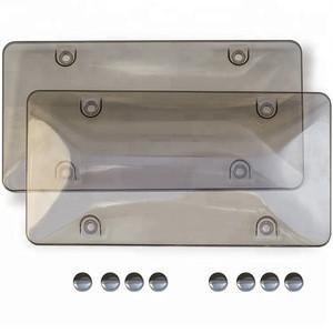 Grey Smoke plastic License Plate covers