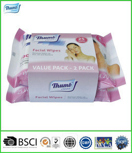 Latest Promotion Price Make Up Remover Soft Facial Tissue Paper Wet Wipes