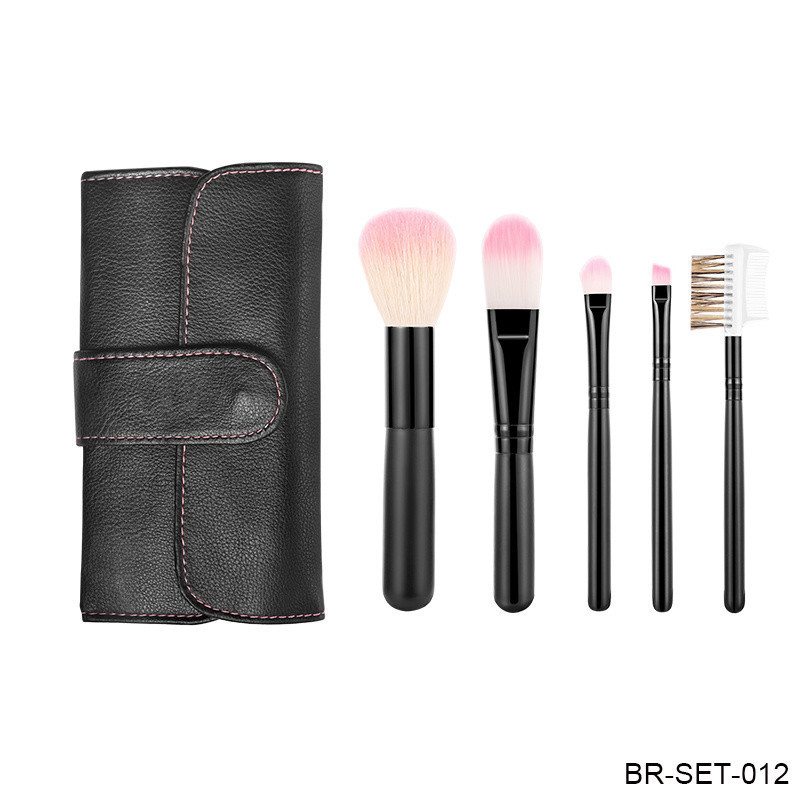 Makeup Brushes Face Eyes Cosmetic Makeup Brushes Tools with Soft Bristles Synthetic Hair Wood Handle