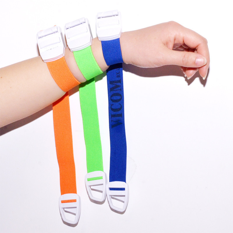 Multicolored Medical Supplies Strong Buckle Elastic Tourniquet 2.5*40cm OEM