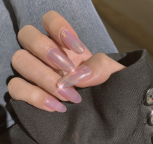 Nails Pink Stiletto Extra Long Nail Tips Glitter Full Coverage