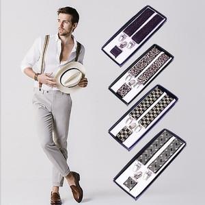 New fashion Elastic Y-Shape Braces Mens  Adjustable Clip-on Suspenders