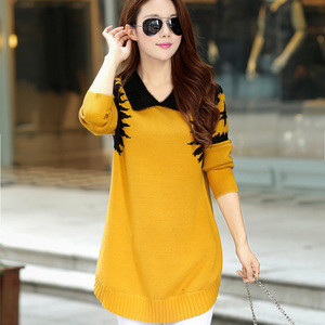 New style High Quality Fashion Elegant Wool women knitted sweater