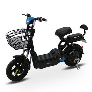 Power-assisted 48V 350W Electric Bicycle with Dashboard and Double Shock Absorbers