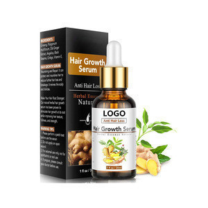 Private Label Ginger Hair Growth Oil Anti Hair Loss Serum To Help Grow Healthy Strong Hair for Men and Women