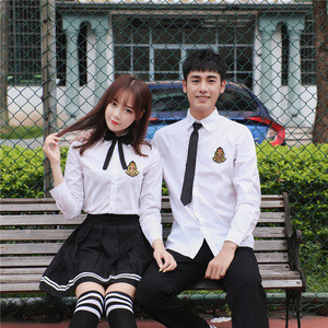 School uniform dress customized design for middle school students in Thailand Japan and South Korea in 2020 summer