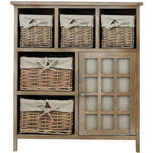 Shabby Chic Cheap Wicker Basket Storage Unit Shabby Sideboard