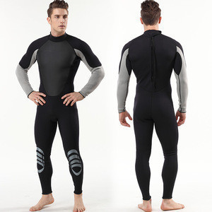 Spot Goods Fast Ship Delivery Men Women 3mm Neoprene Back Zipper Plus Size Full Body Cover Sun UV Protection Surf Diving Wetsuit