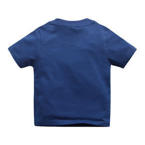 The summer wear short sleeved t-shirt t-shirt cotton children's children