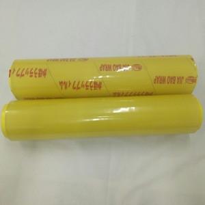 Transparent yellow pvc food grade cling film