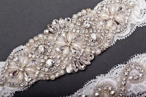 Vintage White Lace Wedding Garter Set