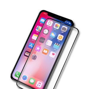 Wholesale 9H 3D 4D 5D curved Asahi Tempered Glass for iPhone 6 7 8 plus X XS max XR Anti Shock Cell Phone Bulk Screen Protector