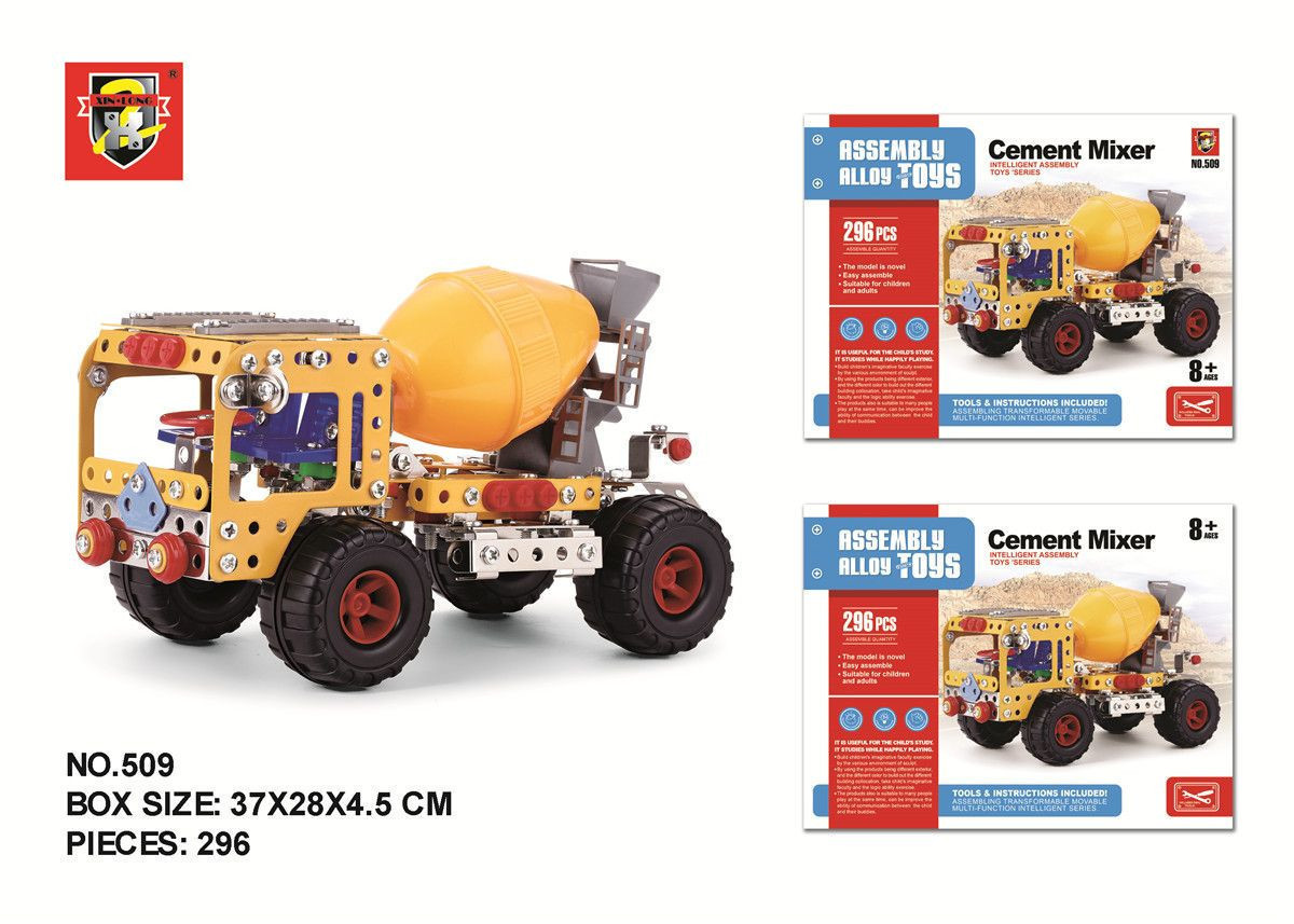 ASSEMBLY ALLOY TOYS CEMENT MIXER BLOCKS