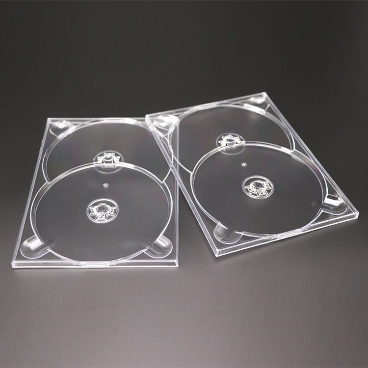 Manufacturer Weisheng 7mm Double 2-DVD PS Material packing digi tray storage digitray
