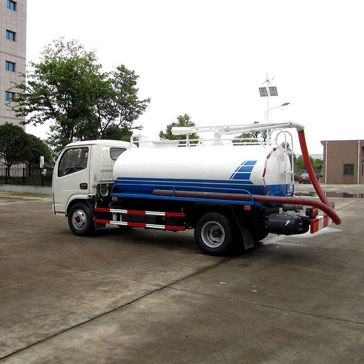 Dongfeng wheelbase 3308mm 85KW sewage suction truck