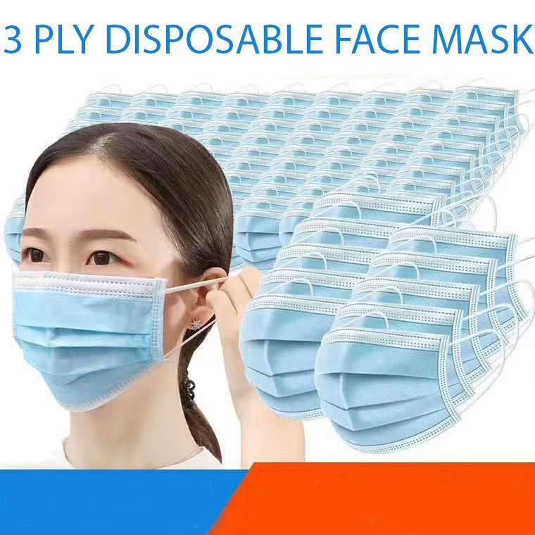 3 Ply Disposable Face Mask | Face Mask Supplier | Surgical Face Masks with Ear Loops