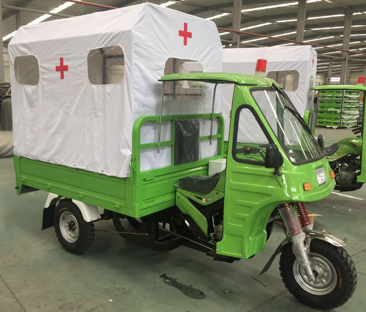 150cc petrol engine tricycle ambulance