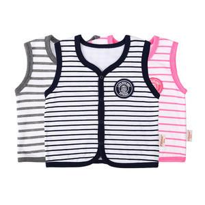12A Autumn Winter Thicken Girl Children Outwear Outdoor Zipper Baby Vests