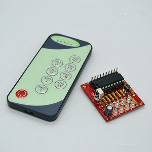8 Channel IR Infrared Receiver Board Delay Relay Driving Module + 9 Keys Remote Control Transmitter Self-Locking Controller 3-5V