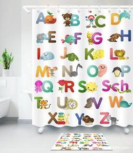 Bathroom Accessory Popular Designer Bathroom Kid Shower Curtain from China