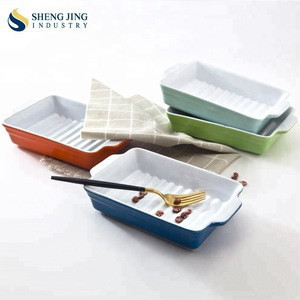 Colorful Porcelain Bakeware Ceramic Baking Set