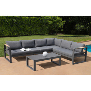 Commercial & Residential Modern Design Aluminum Luxury  Outdoor Furniture Sofa Set