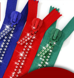 Custom colorful open end cheap plastic zipper for clothes bags