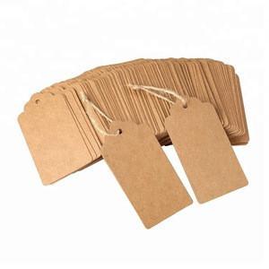 Custom printed logo kraft paper square label garment hang tags for clothing