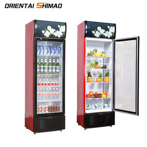 Customized Double Door Upright Freezer Cold Drink Refrigerators For Sale