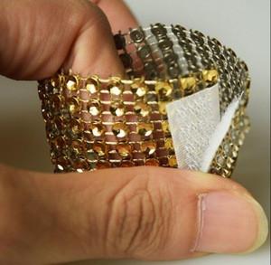 Diamond mesh wrap roll sparkle rhinestone ribbon for chair sash