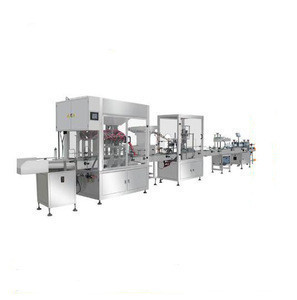 Disinfection gel filling capping labeling line